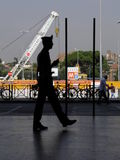 Italian Carabinieri policeman silhouette Royalty Free Stock Photos