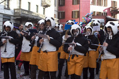 Italian carnival - the band Royalty Free Stock Image