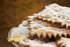 Italian carnival cookies-chiacchiere di carnevale Stock Photography