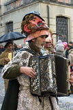 Italian carnival - the musician Stock Photos
