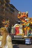 Italian carnival parade. Carnival parade - allegorical wagons Royalty Free Stock Images