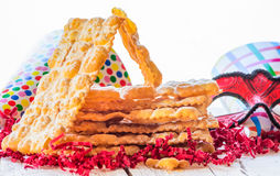 Italian carnival pastry. Royalty Free Stock Photos