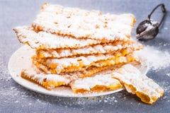 Italian carnival pastry. Stock Photo