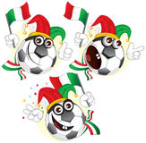 Italian cartoon ball stock photos