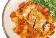 Italian Casseroled Chicken with Gnocchi Stock Photography