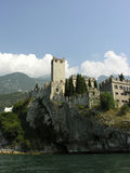 Italian castle. At the Garda Lake Royalty Free Stock Images