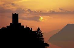 Italian castle sunset Royalty Free Stock Photos