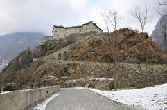 Italian Castle Valle d'Aosta Royalty Free Stock Images