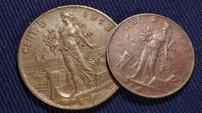 Italian cents vintage Stock Images