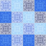 Italian ceramic tile pattern. Ethnic folk ornament. Mexican talavera, portuguese azulejo or spanish majolica vector illustration