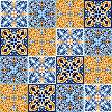 Italian ceramic tile pattern. Ethnic folk ornament. vector illustration