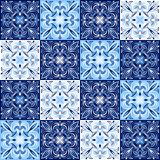 Italian ceramic tile pattern. Ethnic folk ornament. Mexican talavera, portuguese azulejo or spanish majolica stock illustration