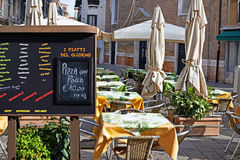 Italian chalkboard menu Royalty Free Stock Photos