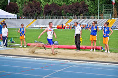 Italian championships of athletics for paralympic Royalty Free Stock Images
