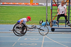 Italian championships of athletics for paralympic royalty free stock photos