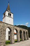 Italian Charnal House at Kobarid. Arches of the Italian Charnal House located on Gradic Hill in Kobarid, in the Littoral region of north east Slovenia. Opened in Royalty Free Stock Photo