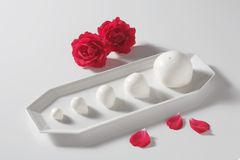 Bocconcini and roses Royalty Free Stock Photos