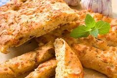 Italian cheese bread Royalty Free Stock Photography