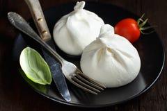 Italian cheese burrata Stock Photos