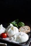 Italian cheese burrata Royalty Free Stock Photography
