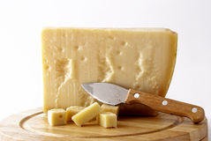 Italian cheese - grana padano Royalty Free Stock Image