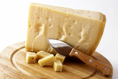 Italian cheese - grana padano Royalty Free Stock Images