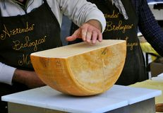 Italian cheese market Stock Photo