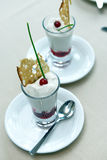 Italian cheese mousse Stock Photos