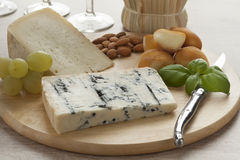 Italian cheese platter Stock Images