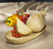 Italian cheese provola Stock Image