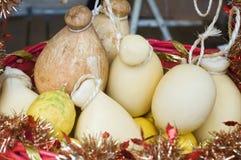 Italian cheese provola stock photos