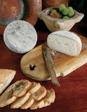 Italian cheese. Selection of italian cheese sliced on wood background Royalty Free Stock Photo