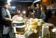 Italian cheese seller Royalty Free Stock Photos
