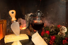 Italian Cheese And Wine Stock Photos