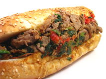 Italian Cheesesteak Sandwich Royalty Free Stock Images