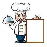 Italian chef. With a blank customizable Royalty Free Stock Image