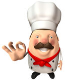 Italian chef. Fun Italian chef, 3d generated picture Stock Image