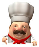 Italian chef. Fun Italian chef, 3d generated picture Stock Photo