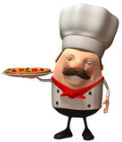 Italian chef. Fun Italian chef, 3d generated picture Stock Photo