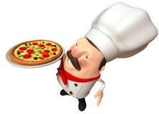 Italian chef. Fun Italian chef, 3d generated picture Stock Photography