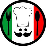 Italian Chef. Representation of the art of Italian cuisine Royalty Free Stock Photo