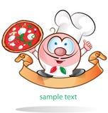 Italian chef cartoon. Italian chef symbol,isolated on white background Royalty Free Stock Images