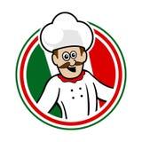 Italian Chef Emblem Logo Vector Graphic. Illustration Stock Photography