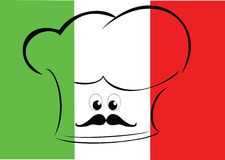 Italian Chef Flag Royalty Free Stock Photo