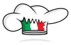 Italian chef hat. Vector illustration of the Italian chef hat Stock Photo
