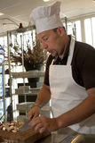 Italian chef; whistling at the job Stock Images