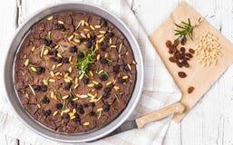 Italian chestnut cake, castagnaccio. Stock Image