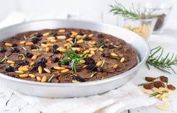 Italian chestnut cake, castagnaccio. Stock Images