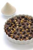 Italian chestnut cake,  chestnut flour Royalty Free Stock Images