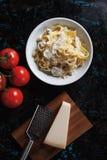 Italian chicken alfredo pasta Royalty Free Stock Photography